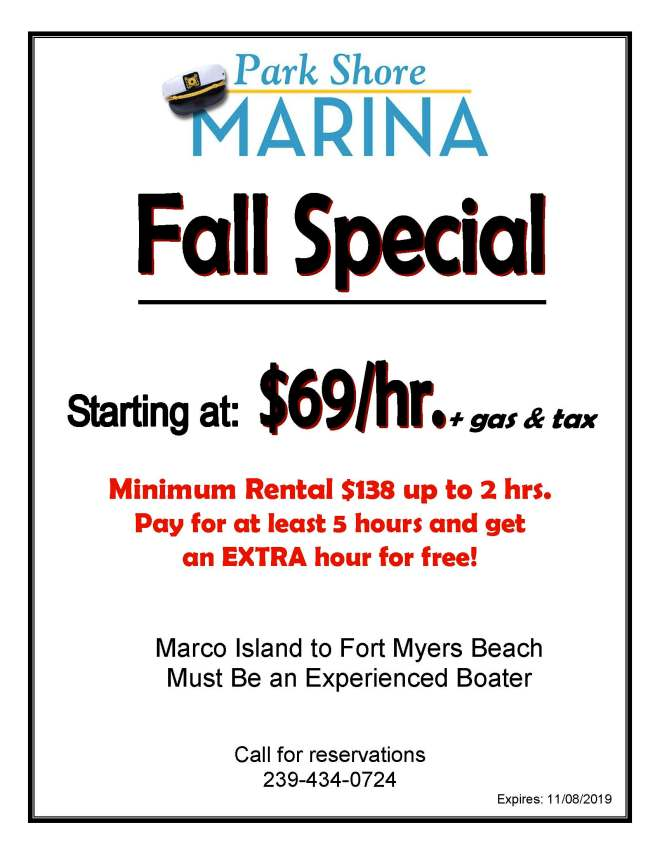 2019 Fall $69 Rental rate